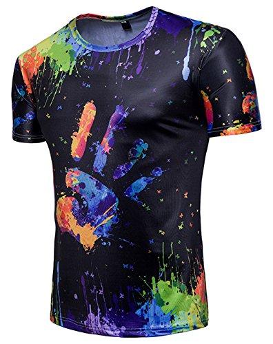 Impression Whatlees shirt À Coloré T En Ba0043 Design Ba0043 shirt Belle Manche Homme Luxury Courte 33 Tee 1 1q8w1Prx