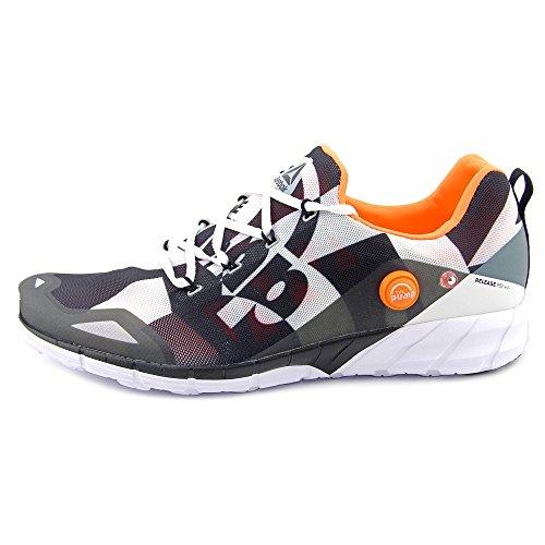 Zapatillas De Running Reebok Hombres Zpump Fusion 2.0 City Running Blanco / Negro / Gris Estaño / Peach Eléctrico