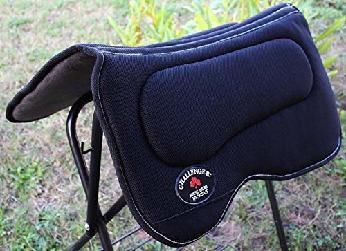 Western Horse SADDLE PAD Western Saddle Pad with Antislip Memory Foam Black 3964>