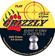 Grizzly .177 (4.5MM) Pellet Round/Dome 8.6 Grains Match Grade 2000 PK