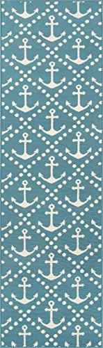 Nolita Rugs Ishan Polypropylene Blue Indoor/Outdoor Rug 2'3