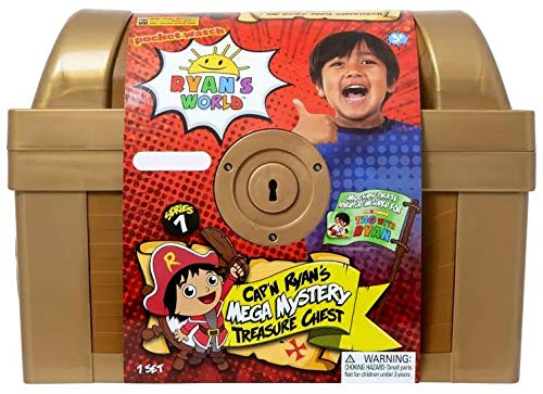 - RYAN'S WORLD Exclusive Mega Mystery Treasure Chest, Over 1FT Long