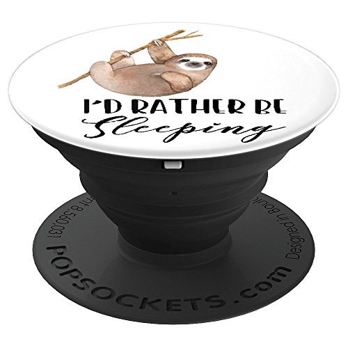 Id Rather Be Sleeping Lazy Sloth - PopSockets Grip and Stand for Phones and Tablets