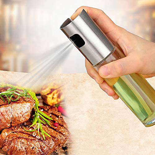 HEART SPEAKER Refillable Olive Oil Vinegar Pump Spray Bottle Cooking Salad BBQ Kitchen Tool