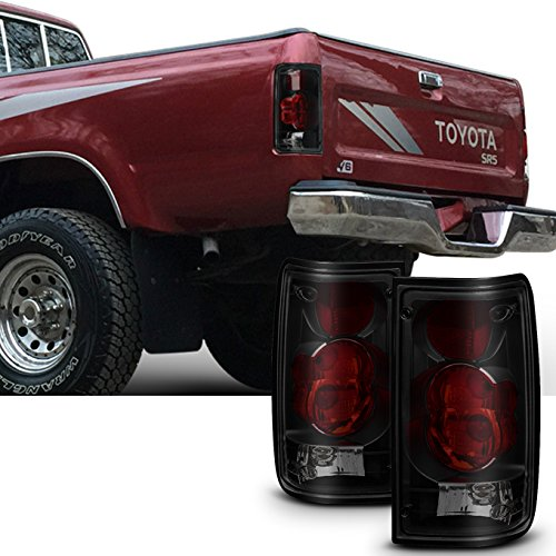 For [Black Smoked] 1989 1990 1991 1992 1993 1994 1995 Toyota Pickup Left + Right Side Tail Lights ()