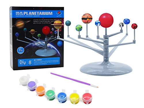 ts Eight Planets Puzzle Assembling Solar System Planetarium Model Children's Science DIY Toy Set Astronomical Toys For Kid ()