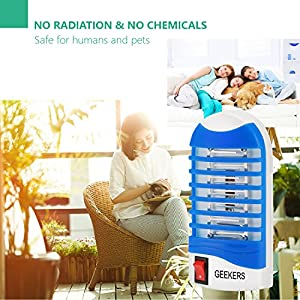 S SAVHOME 2018 UpGrade Bug Zapper Electronic Insect Killer Mosquito Trap Eliminates Most Flying Pests With Indoor UV Light Gnat Trap Cover 180 Sq Ft (4 PACK)