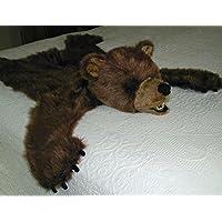 Plush Brown Bear Rug - Medium, Open Mouth