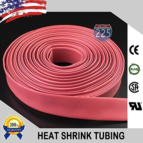 Heat Shrink Tubing Tube Cable US UL 25 FT. 25' Feet RED 1