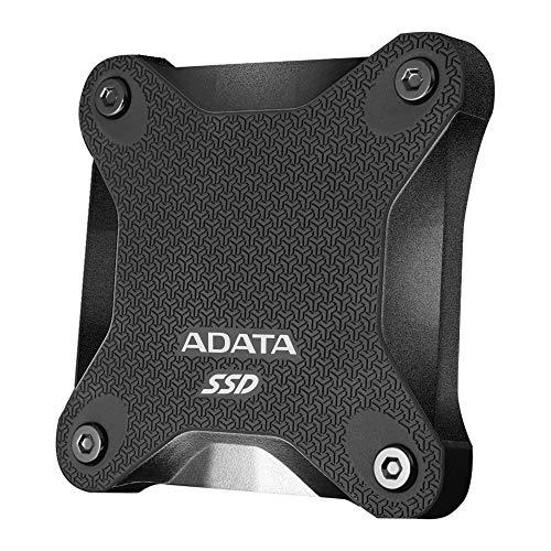 ADATA SD600Q 960GB Ultra-Speed Portable Durable External SSD - Up to 440MB/s - 3D NAND USB3.2 Black (ASD600Q-960GU31-CBK)