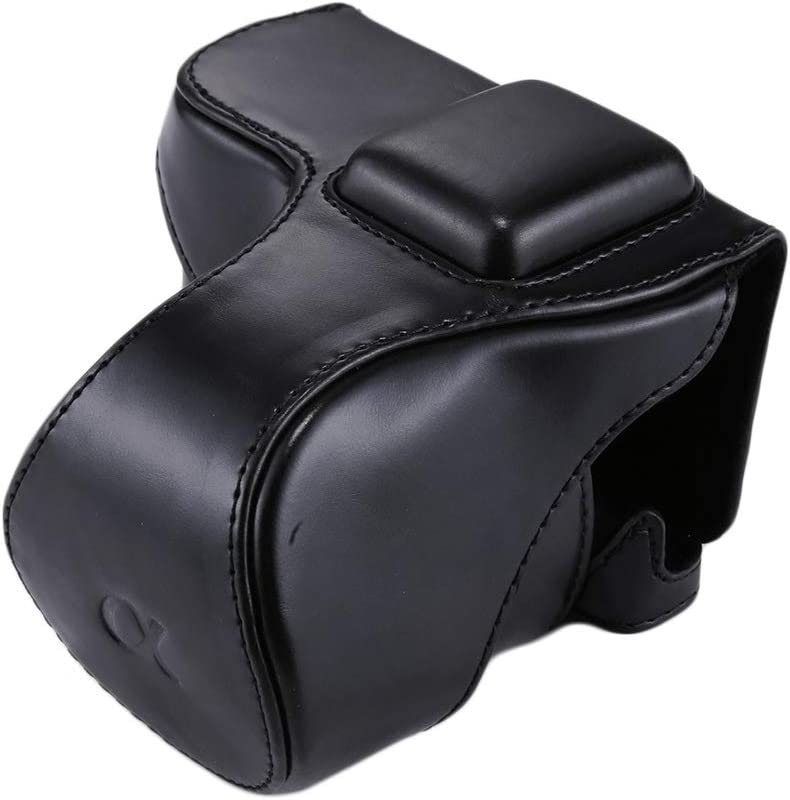 Color : Black Durable GuiPing Full Body Camera PU Leather Case Bag with Strap for Sony NEX 5N // 5R // 5T 16-50mm // 18-55mm Lens