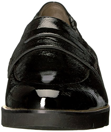 Flat NICO Crinkled Paul LFR Black Patent Green Loafer Women's BTqHxwUX4