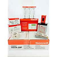 Honeywell Vista 20P, 6160RF Keypad, (3) 5816WMWH, 5800PIR-RES, 5834-4, Battery, Siren RJ31X Jack and Cord Kit Package