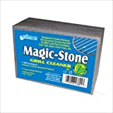 Compac's Magic-Stone Grill Cleaner Scrub, Scouring Brick/Barbecue Grill Brush/Barbecue Cleaner-Advanced Green Technology Easily Removes Stubborn Grime, Grease, from BBQ Grills, Griddles, RacksCompac Magic Stone Grill Cleaner