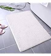 Homore Bathroom Mats Soft Chenille Bath Rugs 20x32inch, Super Absorbent Shaggy Carpets for Bath R...