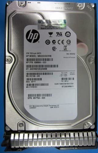 SC Midline Zero Hours HP 658102-001 HP 2TB 6G SATA 7.2K RPM LFF 3.5-inch