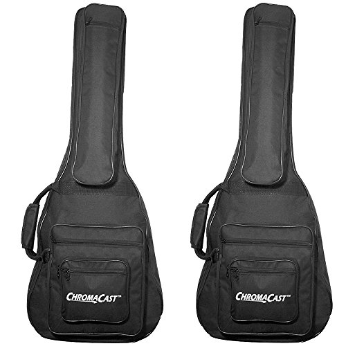 ChromaCast CC-A3/4PB-BAG-2PK 3/4 size Acoustic Guitar Padded Gig Bag, Pack of 2