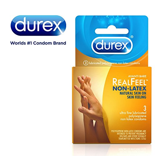 Durex Avanti Bare RealFeel Non-Latex Condom, 3 Count (Pack of 6) (Best Condoms For Uncircumcised)