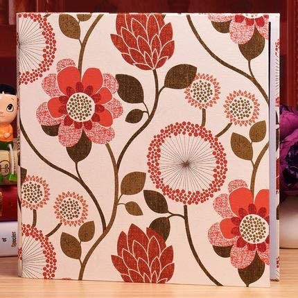 Vivona Cotton Jacquard 850pcs Photo Album Wedding Baby Memory Record DIY Large Capacity Album Photo Book for 5 6 7 8 10 Inch Pictures - (Color 6)