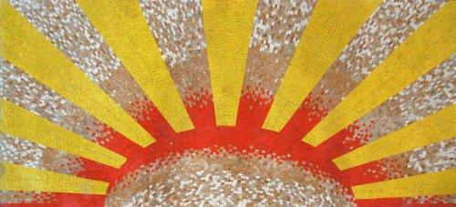Sunburst Marble Mosaic Art ()