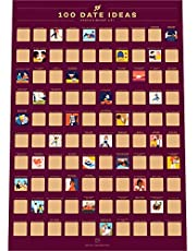 100 Dates Scratch Off Poster - 100 Afspraakjes Krasposter - Bucketlist Stelletjes - Cadeau-idee voor Valentijnsdag (42 x 59,4 cm)