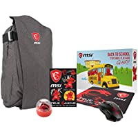 MSI GS Series Dragon Fever Bundle: GS Air Backpack, MSI Gaming Mouse, MSI True Gaming Mousepad, MSI True Gaming Sticker Set, Lucky the dragon edge of the cup figurine (957-1XXXXE-044)