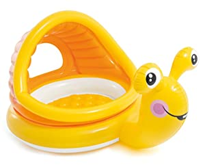 """Intex Lazy Snail Shade Baby Pool, 57"""" x 40"""", for Ages 1-3"""