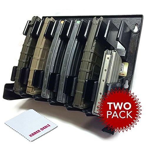 Mag Storage Solutions AR-15 5.56 .223 MagHolder Magazine Holder Storage Rack AR15 - 2 Pack (Best Ammo Storage Solution)