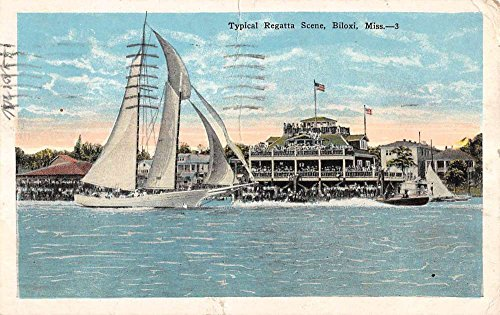 Biloxi Mississippi Typical Regatta Scene Antique Postcard K88743 (Mississippi Postcard)