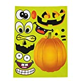 Tigerdoe Halloween Stickers - 24 Sheets Kids Jack O Lantern Pumpkin Stickers