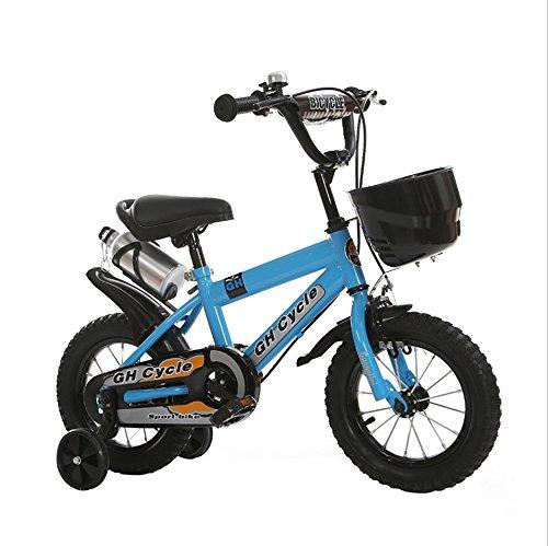 子供の自転車4-7歳の子供の自転車高炭素スチールの赤ちゃんキャリッジ16インチの男性と女性の自転車、青/黄色 ( Color : Blue ) B07DXKC991