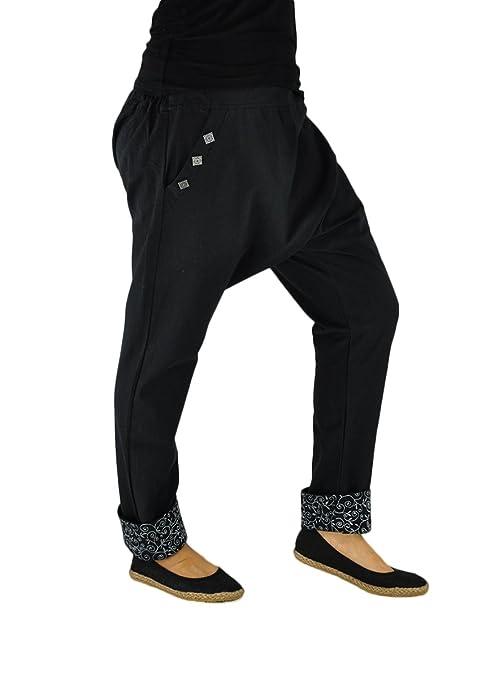 virblatt Eleganti Pantaloni Cavallo Basso Donna Come Abbigliamento Etnico -  Pai  Amazon.it  Abbigliamento ba0a41fc661d