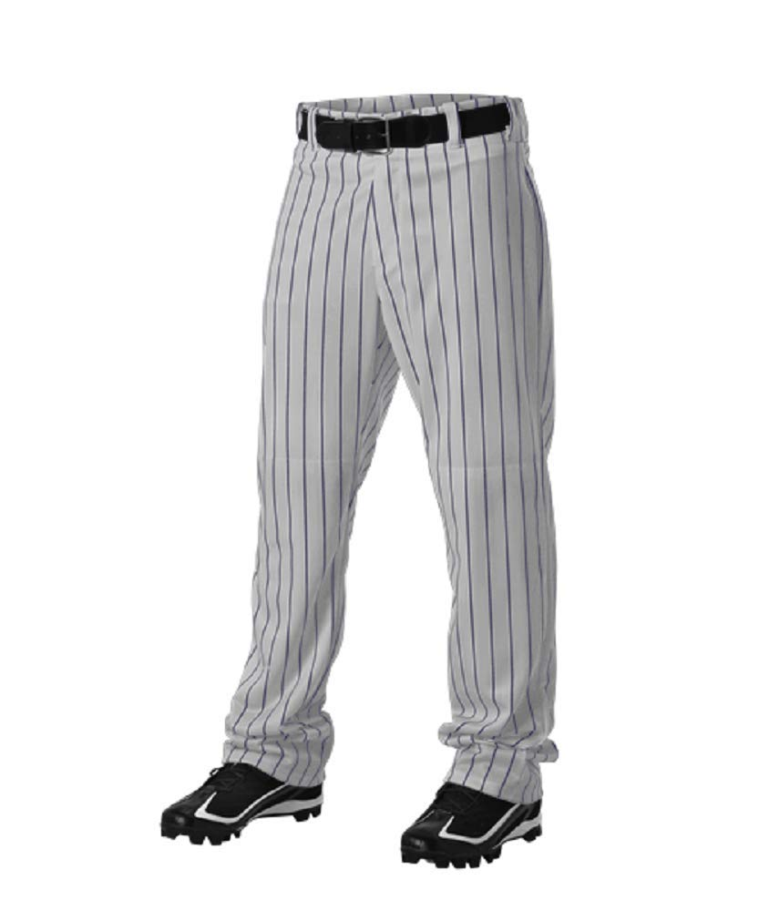 White//Scarlet 2X-Large Alleson Athletic Adult Pinstripe Baseball Pants