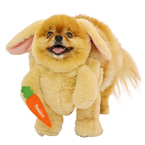 Pandaloon Bunny Rabbit Dog and Pet Halloween Costume Set - AS SEEN ON Shark Tank - Walking Teddy Bear with Arms (Size 2 (15-16.5 in Total Height), Bunny)]()