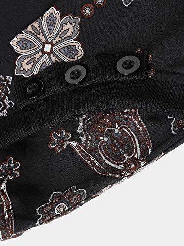Slivexy - Pantalones Bombachos para Mujer con Bolsillos Negro#2