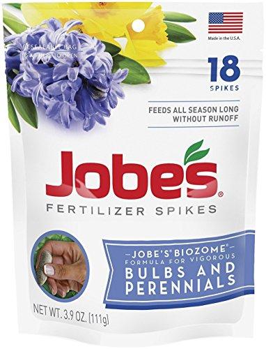 Jobe's Bulb & Perennial Outdoor Fertilizer Food Spikes - 2 Packs of 18-Pack 6207
