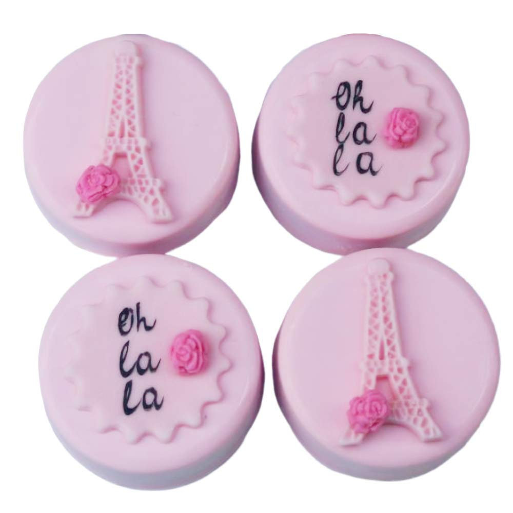2Pcs//Set 3D Paris Eiffel Tower Cake Fondant Mold Silicone Gum Paste Sugar Craft Mold for Cake Cupcake Decorating Polymer Clay Epoxy Resin Candle Mould