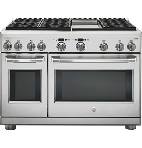GE Cafe C2Y486SDLSS 48 Inch Freestanding Dual Fuel Range with 6...