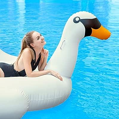 Colchoneta Hinchable con forma de cisne: Amazon.es: Hogar