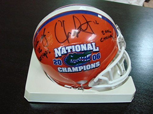 (Urban Meyer & Chris Leak Autograph / Signed Florida Gators Mini)