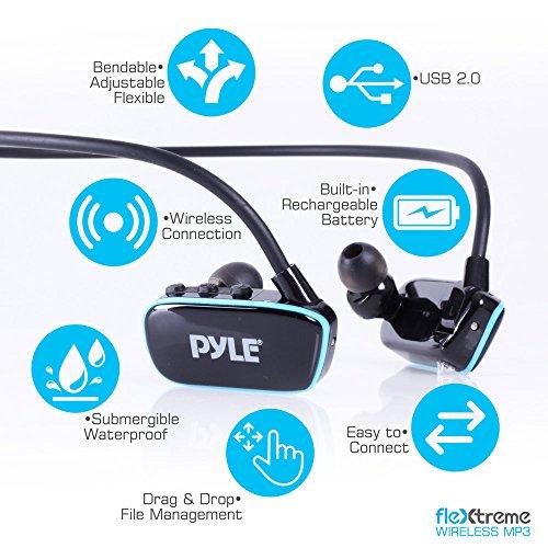 Pyle Waterproof Sports Wearable MP3 Headset Music Player 8GB