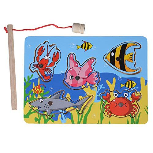 RaiFu 釣りおもちゃ アクションゲーム ジグソーパズルボード子供の磁気釣りゲーム男の子と女の子のための教育玩具