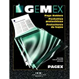"""Sheet Protectors, Gemex, PP2119, Standard Weight 8,5"""" X 11"""", Non Glare, 100 Sheets"""