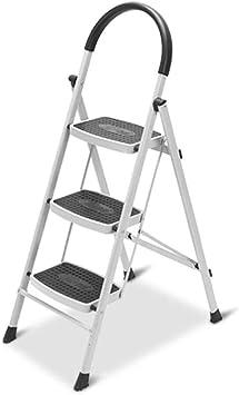 SwZQ-Escaleras plegables Marco de la escalera de la familia, Escalera Apoyabrazos Elevación tres pasos simples de la casa de seguridad de tijera/negro y negro/tamaño: 67 * 117 cm Escaleras de mano: Amazon.es: