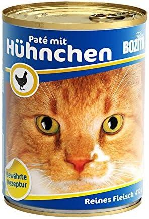 bozita Cat con Gallina 410 G Lata de gato húmedo Forro 97% Carne ...