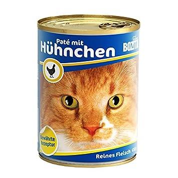 bozita Cat con Gallina 410 G Lata de gato húmedo Forro 97% Carne: Amazon.es: Productos para mascotas