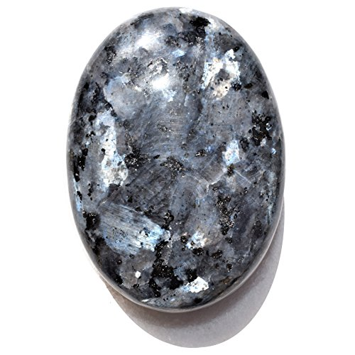 Charged Larvikite Crystal Pocket Palm Stone/Worry Stone for sale  Delivered anywhere in USA