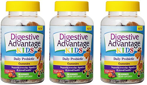 Digestive Advantage Kids Daily Probiotic Gummies yUMLgv, 3Pack (80 Count) by Digestive Advantage