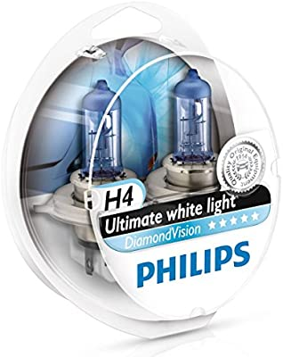 Amazon.com: Philips Diamond Vision H4 Upgrade Car Headlight Bulbs 5000K 12342DVS2 (Pair): Automotive