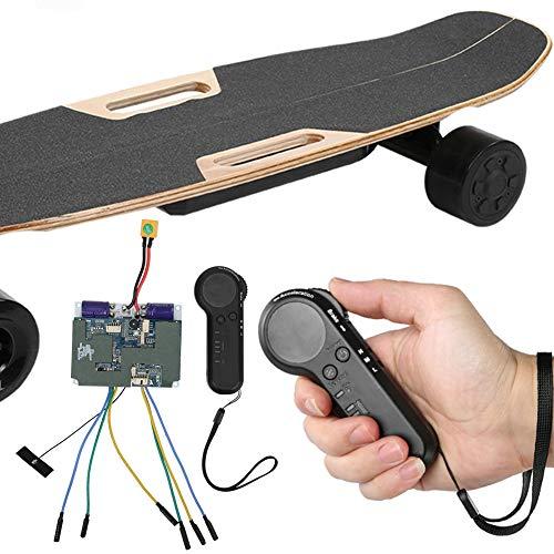 Keenso Electric Skateboard ESC Kit, Electric Four Wheels Skateboard Belt Motor Dual Drive Controller Remote Control Set